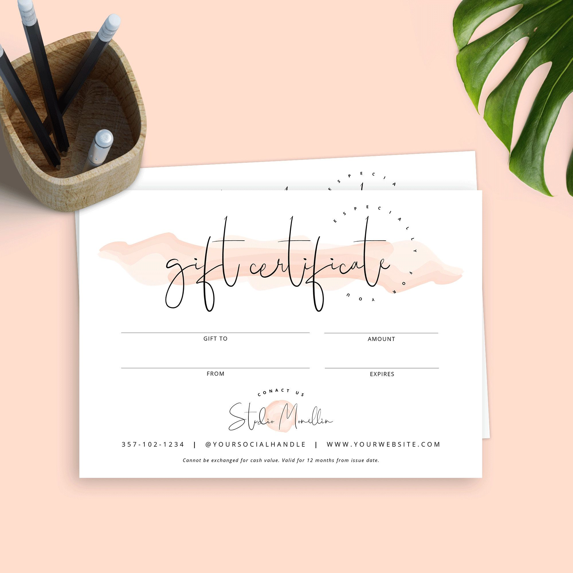 Elegant Gift Certificate Template Mother S Day Gift Etsy Printable Gift Cards Gift Voucher Design Gift Certificate Template