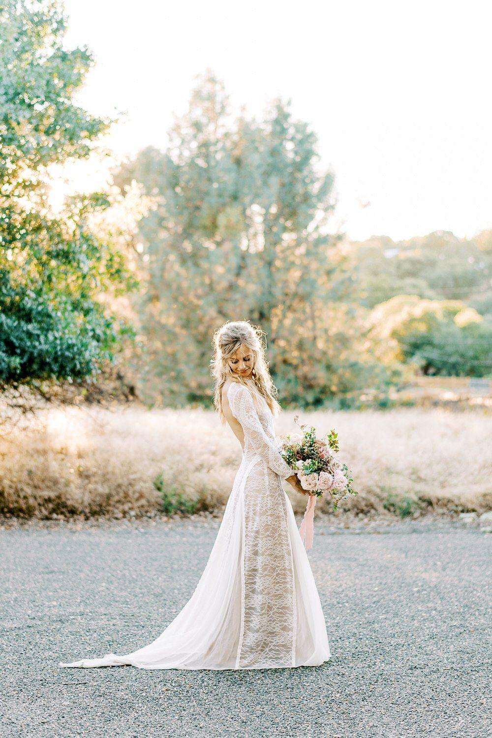 This Backyard Wedding In California Is Why We Love Chic Black Details Ruffled Backyard Wedding Wedding Dresses Simple Whimsical Wedding Gown [ 1499 x 1000 Pixel ]