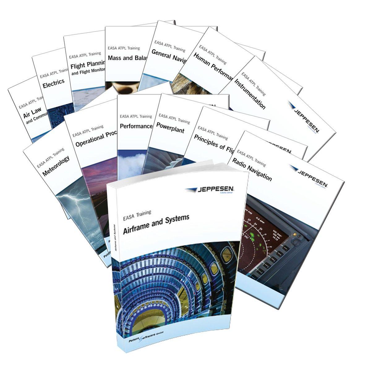 Jeppesen Easa Atpl Manuals Complete Set Pilot Training Aviation Training Train