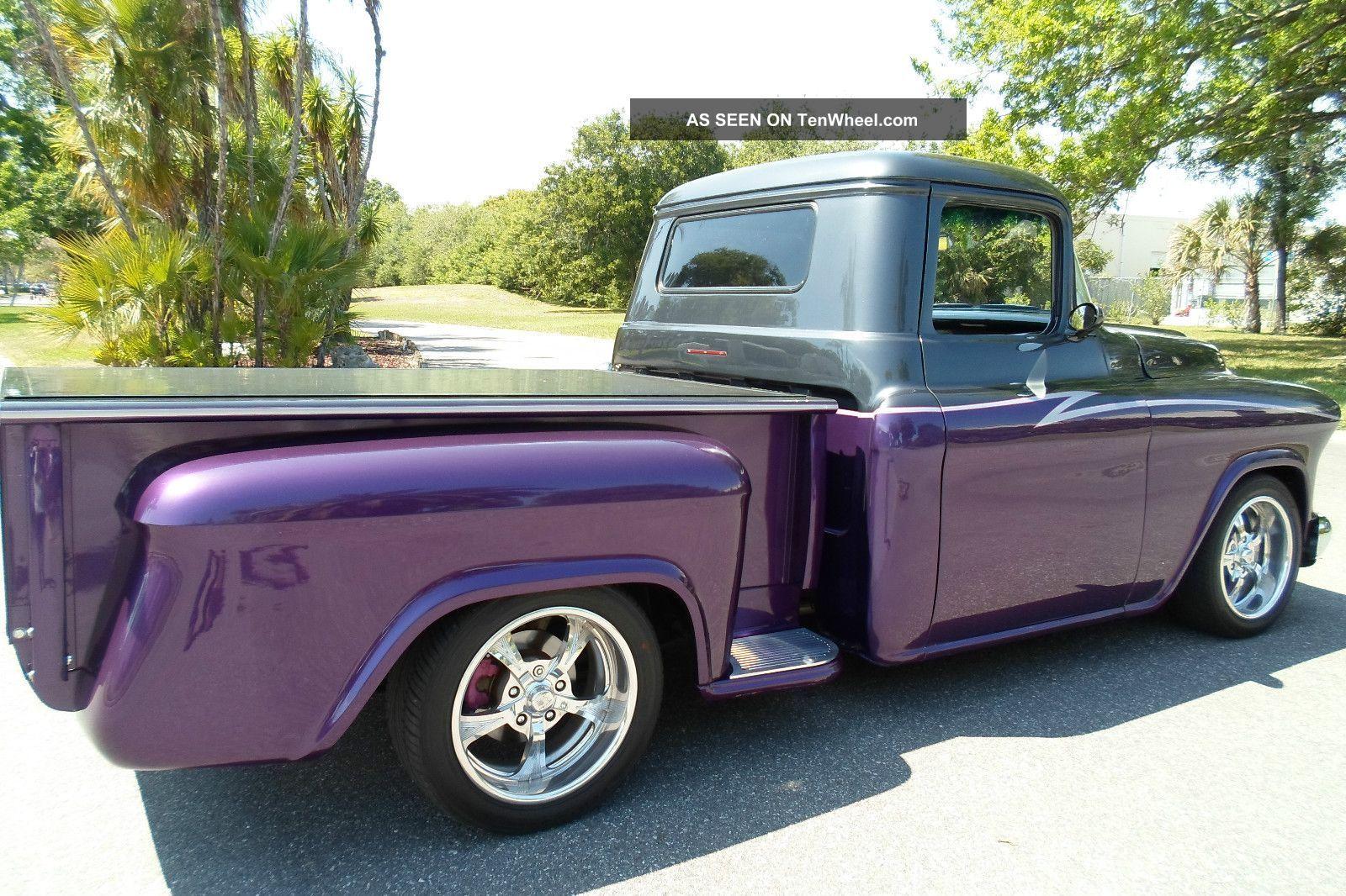 Description 1966 chevy truck short flat stake bed custom built for ...