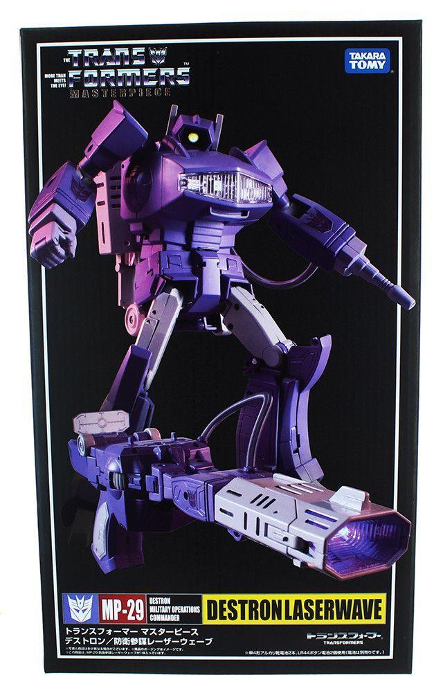 Transformers Masterpiece MP-29 Shockwave G1 Destron Laserwave Action Figures