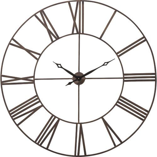 Kare Design Factory Oversized 120cm Wall Clock Large Metal Wall Clock Clock Metal Clock