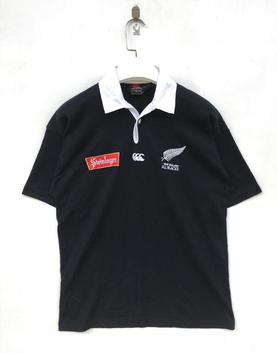 b6d179d1a33d8 Vtg 90s Canterburry Steinlager rugby short sleeve shirt S size in ...