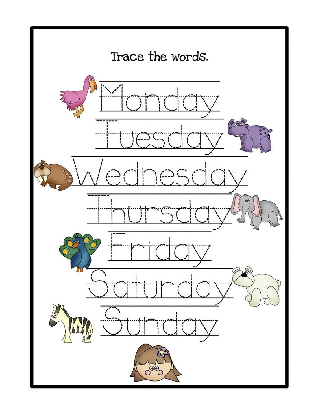 Days Of The Week Activity Simple
