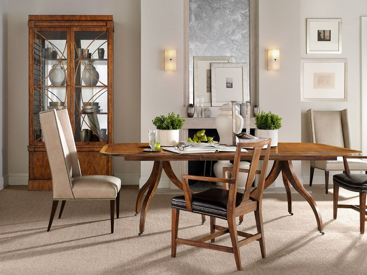 Hickory Chair Newport Table Dining room design, Interior
