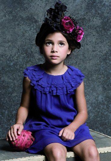Robe enfant lili gaufrette Costume enfant mariage