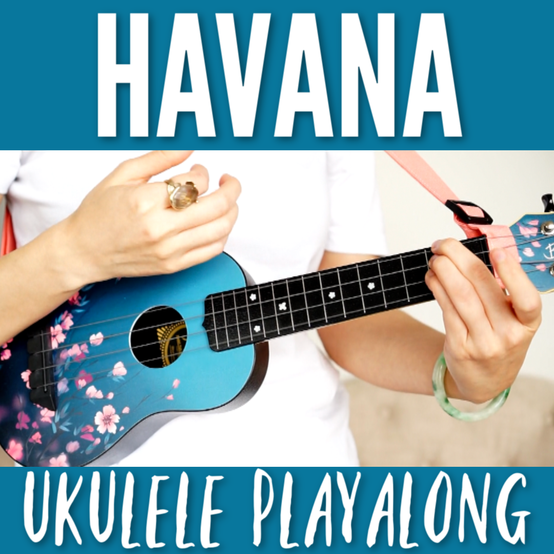 Havana - Camila Cabello ukulele playalong  3 chords! Easy