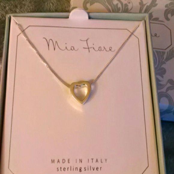 Heart pendant Sterling silver cute little heart pendant. Mia Fiore Jewelry Necklaces