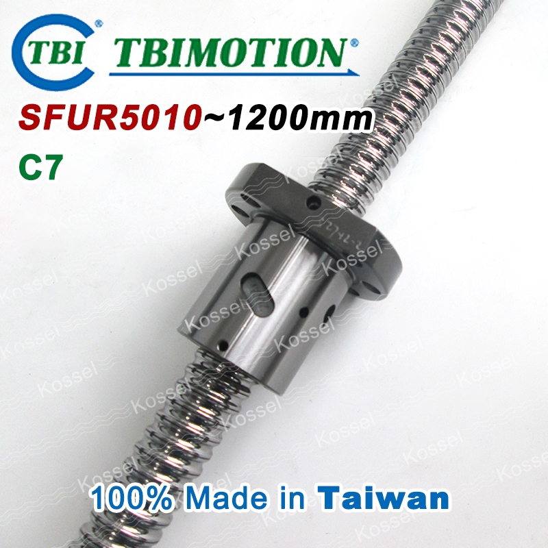 (402.60$)  Buy here - http://aihkp.worlditems.win/all/product.php?id=32723519179 - TBI 5010 C7 1200mm ball screw 10mm lead with SFU5010 ballnut of SFU set end machined for high precision CNC diy kit