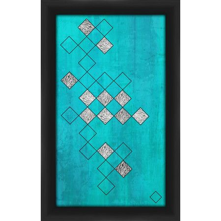 Diamond Silver Pattern Framed Giclee Print