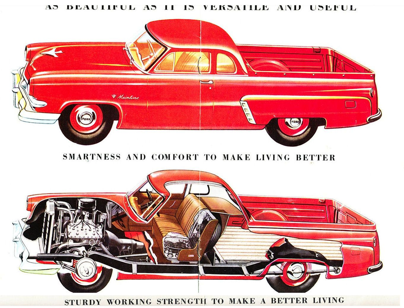 1953 Ford V8 Mainline Coupe Utility Australia Pages 6 7 Trunk Locks Wiring Diagram Of 1958 Edsel And 59 Lincoln