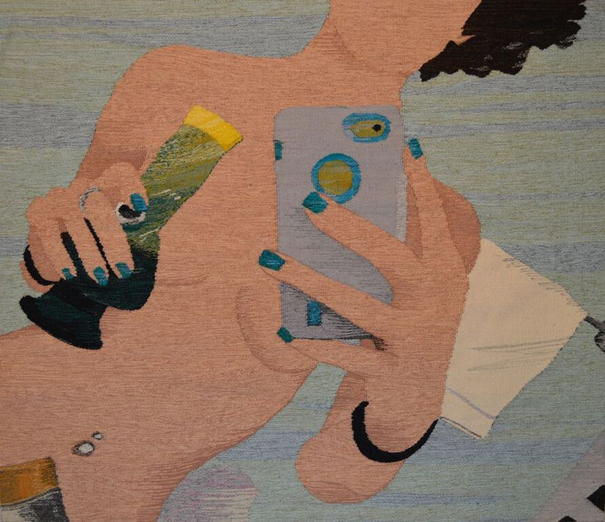 Erin M. Riley, Artist, Weaves Tapestries From Nude Selfies