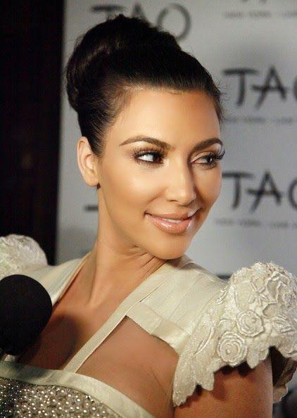 Kim Kardashian Updos Classic Bun Hairstyle Bun Hairstyles Kim