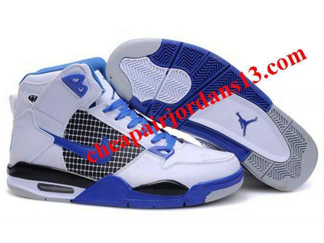 Air Jordan 4 shoes-Cheap Men's Nike Air Jordan 4 High Shoes White/Blue/Black  4 High Shoes For Sale from official Nike Shop.