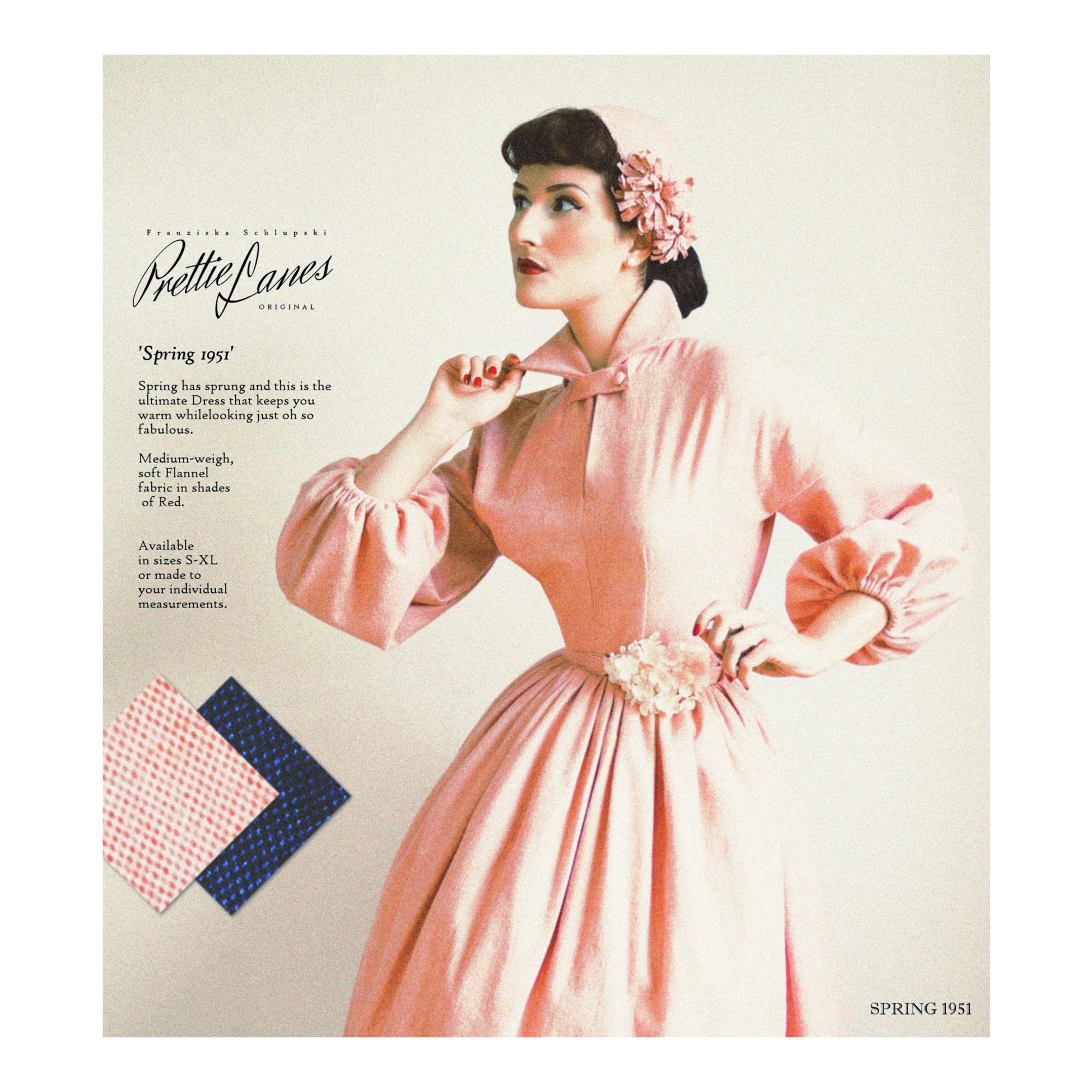 Dress Spring 1951 By Prettie Lanes Www Prettielanes Com 50s Prettielanes Fashiondesign 40s Vintage Vintageinspire Spring Dresses Flannel Dress Dresses