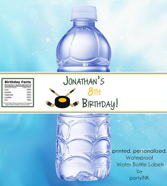 Ice Hockey Waterproof Water Bottle Labels Personalized Stickers Party Favor Labels Set Of Water Bottle Labels Wedding Personalized Labels Bottle Wrapping