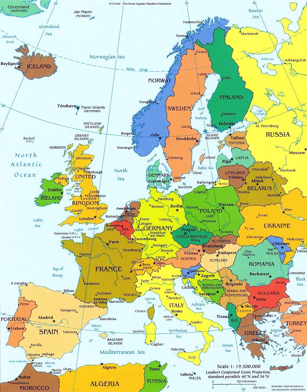 Map Of European Countries Political Map Of Europe Must See In