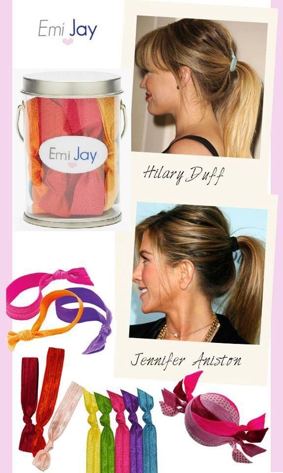 Emi-Jay™ hair ties make any ponytail look chic!  44b23d441a9