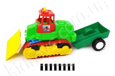 Трактор  гусеничний  з причепом http://kidtoys.com.ua/ukr1858traktor-gusenichnij-z-prichepom