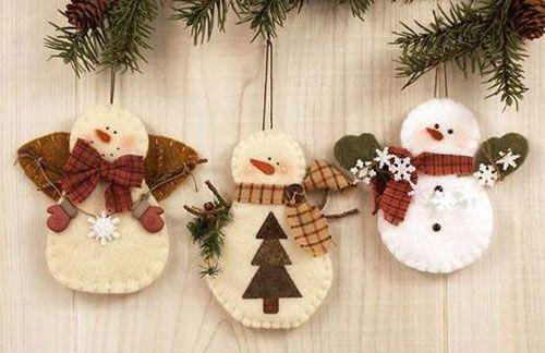 Елочные игрушки handmade (48 фото)   Funny Gifts   Рождественские украшения  ручной работы, Елочные украшения из войлока, Идеи для рождественских  подарков