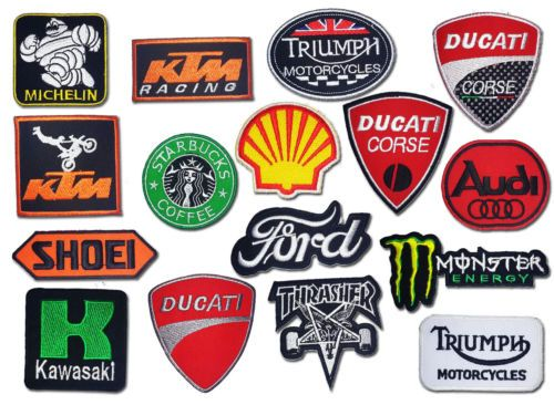 Wholesale Lot Patch Iron Sew Embroidered Mix Brand Motor Racing Car Motorcycle