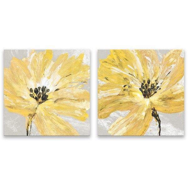 Fleur Jaune Canvas Art Prints, Set of 2 ($35) ❤ liked on Polyvore ...