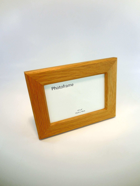 4x6 Picture Frame Oak Photo Frame Natural Wood Frame Hardwood Frame Handmade Photo Frame Wooden Photo Frame Modern Frame Rustic Frame By Frasastyle On Et