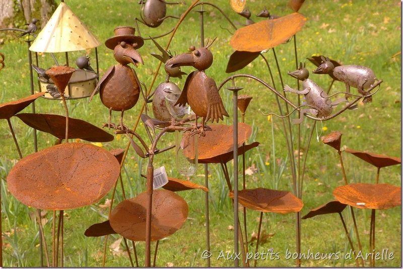 décoration jardin en métal | Objets déco | Decoration jardin, Déco ...