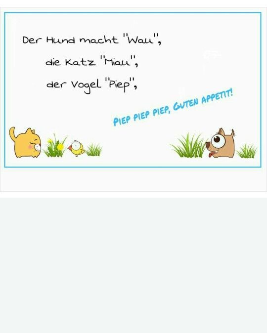Superieur Tischspruch Tiere. Kindergarten ...