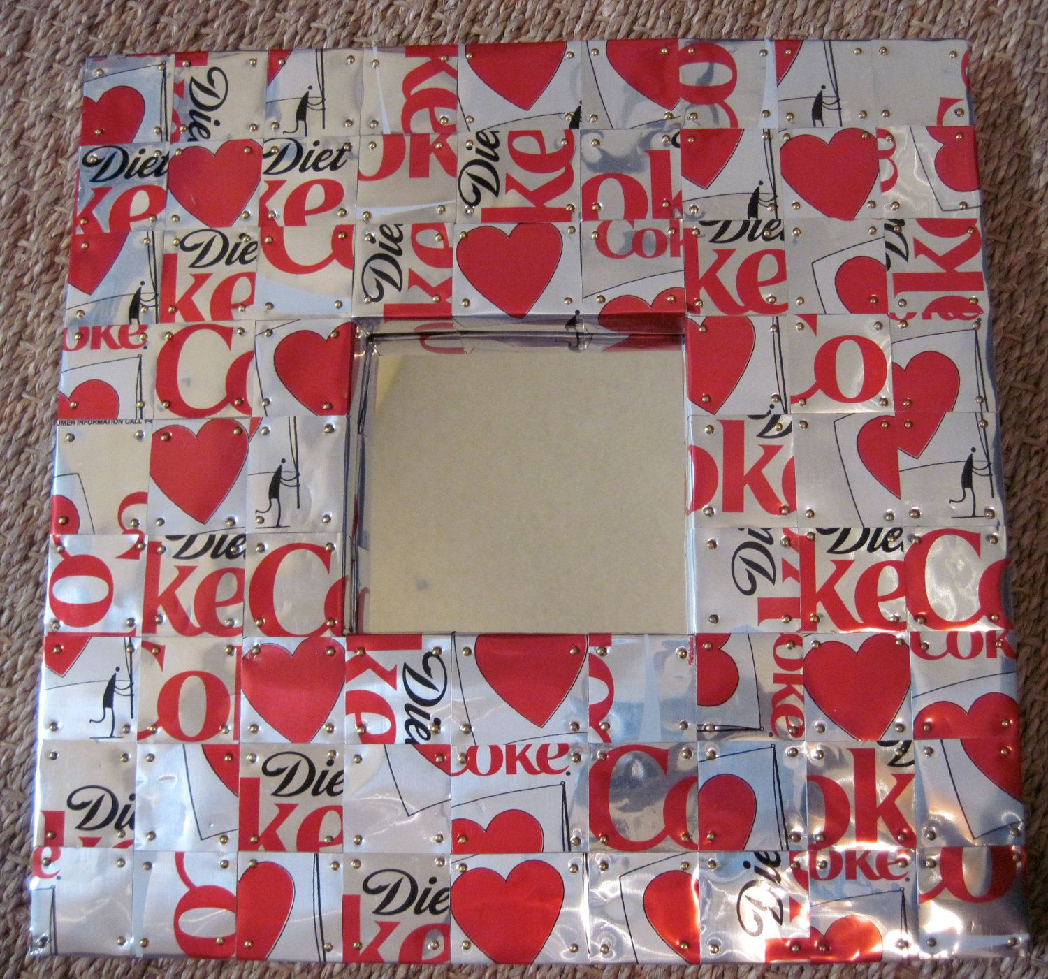 Upcycled Coke Can Picture Frame