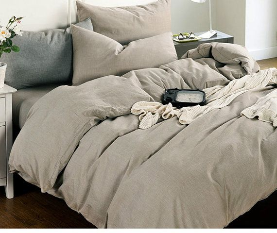 natural linen duvet cover heavy rustic linen bedding made from washed linen available
