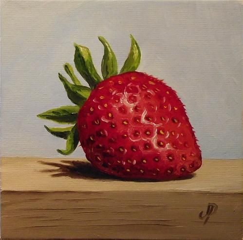 """Strawberry"" - Original Fine Art for Sale - © Jane Palmer"