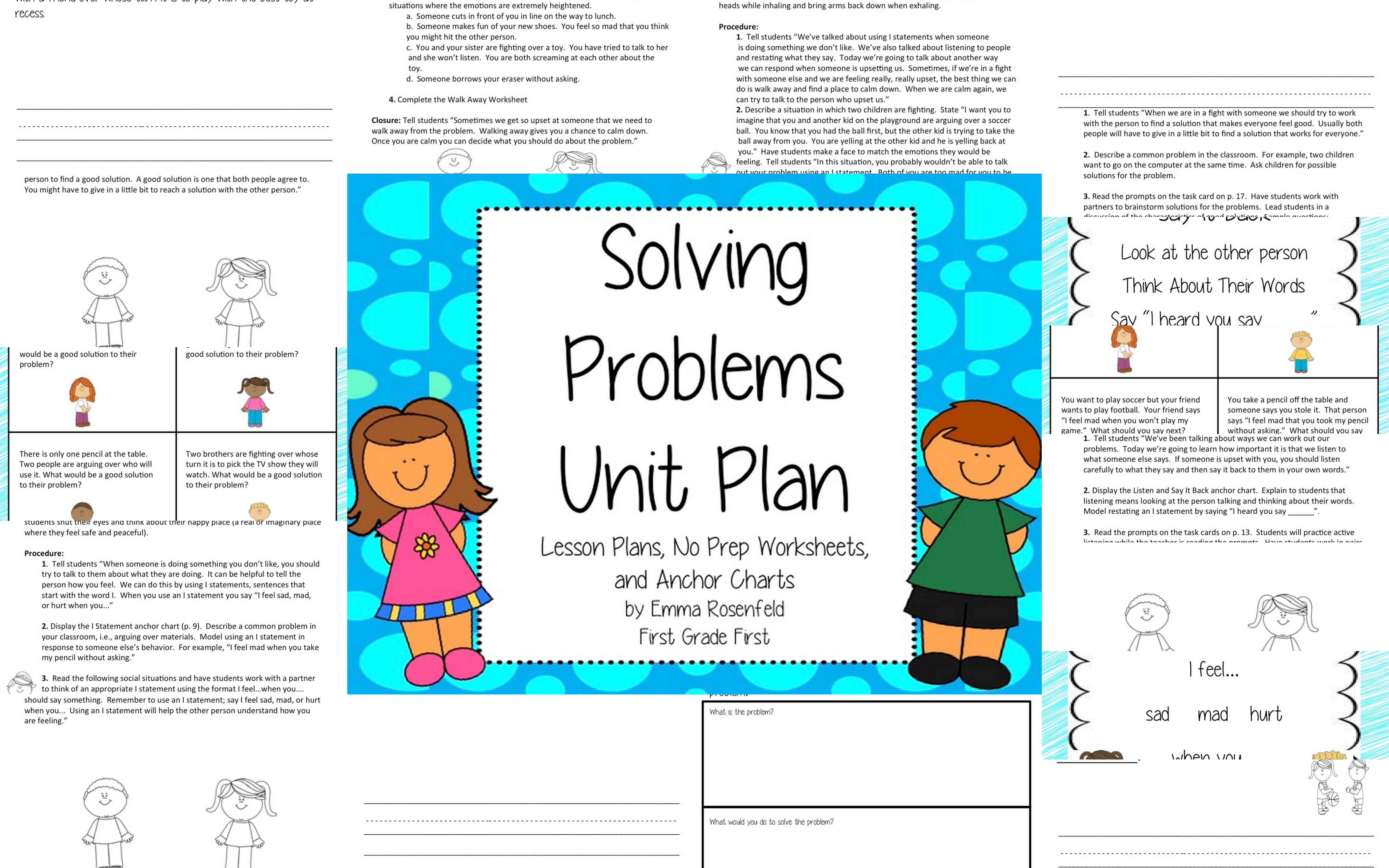 Problem Solving Social Skills Unit Plan | For Educators