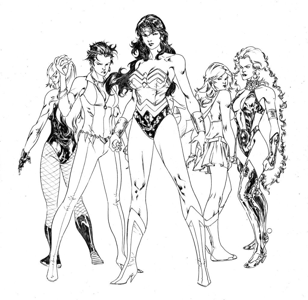 coloring pages superheroes womens costumes - photo#24