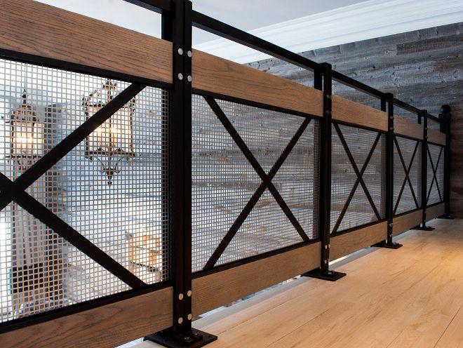 Best Crossed Metal Modern Farmhouse Railing Home Bunch Blog 400 x 300