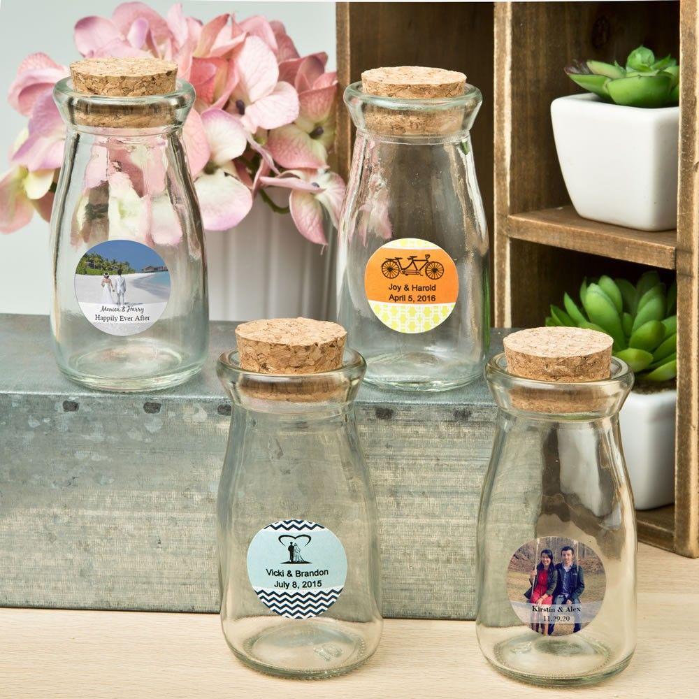 The Vintage Wedding At Cork Factory: Wedding Vintage Glass Milk Bottle With Round Cork Top In