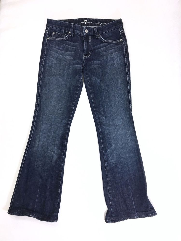 7 For All Mankind A Pocket Womens Bootcut Jeans Size 27 Cotton