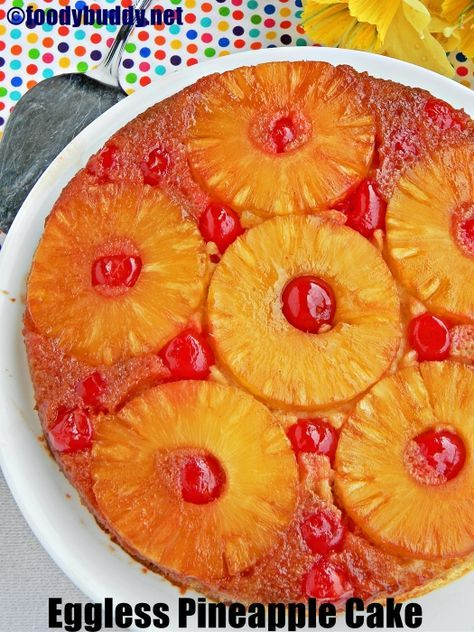 The Best Eggless Pineapple Upside Down Cake So Soft Rich And Delicious In Taste Upside Down Cake Eggless Pineapple Cake Condensed Milk Recipes