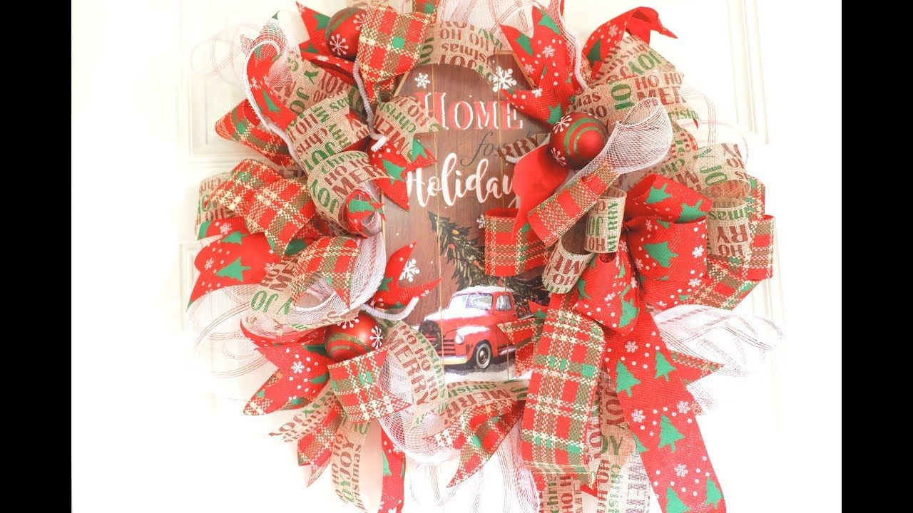 Beautiful Christmas Dollar Tree Wreath for 11.00 + EASY