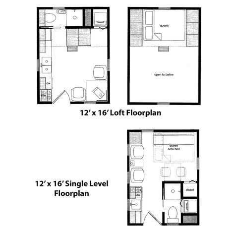 Finished Right Contracting 12 X 16 Cabin Floorplan Tiny House Floor Plans Cabin Floor Plans Loft Floor Plans