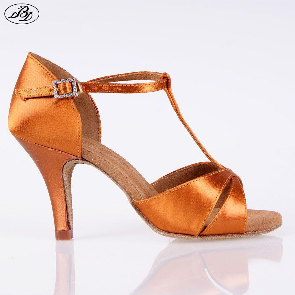 Hot sale women latin bd dance shoe satin sandal ladies latin