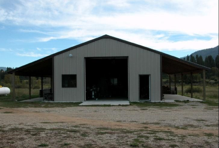Nice simple design for a barn shop steel buildings and for Metal shop house plans