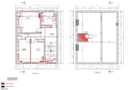 Plan de démolition étage 2+ comble DCE plan de rénovation sur