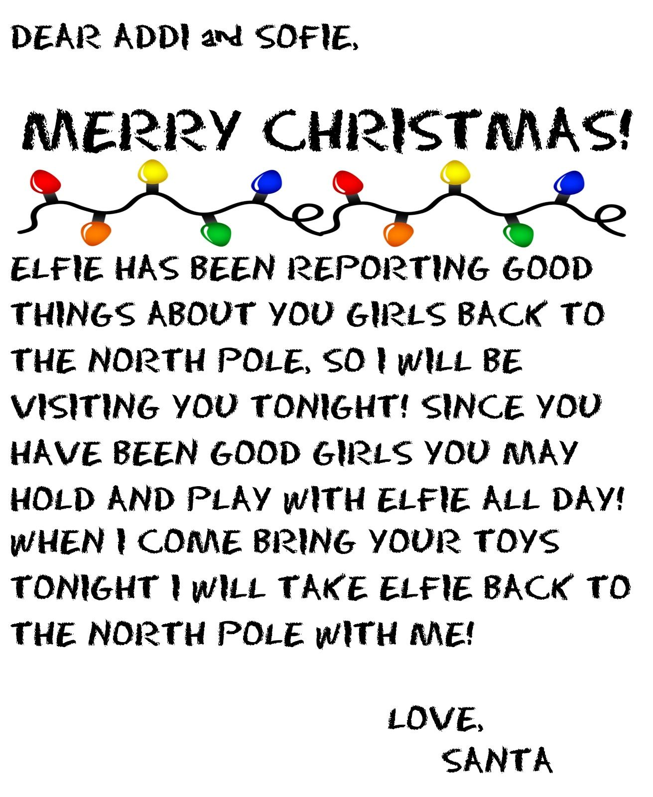 Elf Goodbye Letter  Holidays    Elf Goodbye Letter