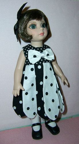 """Custom made Petal Dress and Tights for the new Tonner, Effanbee 10"""" Patsy Doll.....also fits 10"""" Ann Estelle doll. $14.99 with Free Shipping!"""