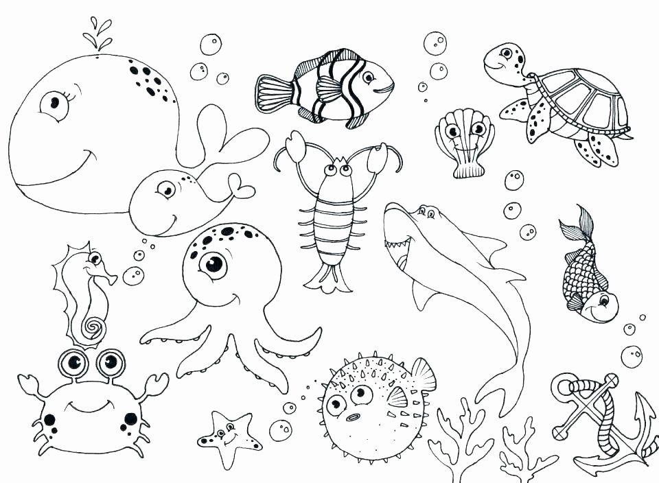 Water Animal Coloring Pages Luxury Water Animals Coloring Pages At Getcolorings Animal Coloring Pages Ocean Coloring Pages Fish Coloring Page