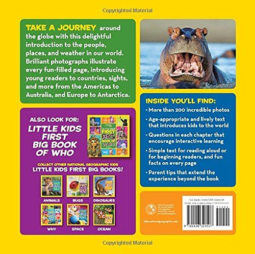 National Geographic Little Kids First Big Book Of The World Hardcover July 14 2015 Big Book Kids National Big Book Books Little Kids