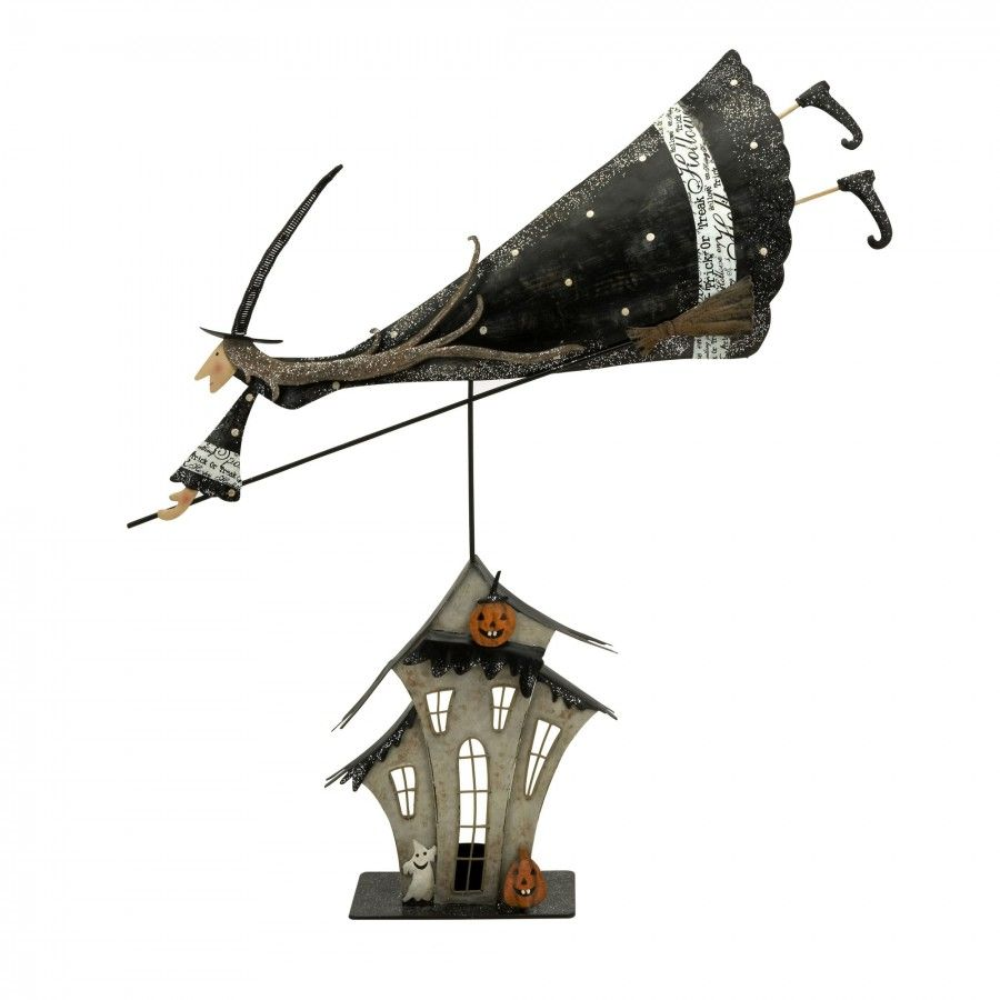 IMAX Whimsical Flying Broom Witch Statuary - 58660 | Nightmare ...