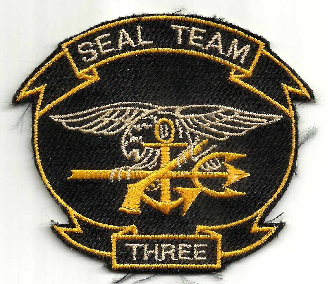US NAVY SEAL TEAM THREE MILITARY PATCH SEAL TEAM 3 SEAL TEAM