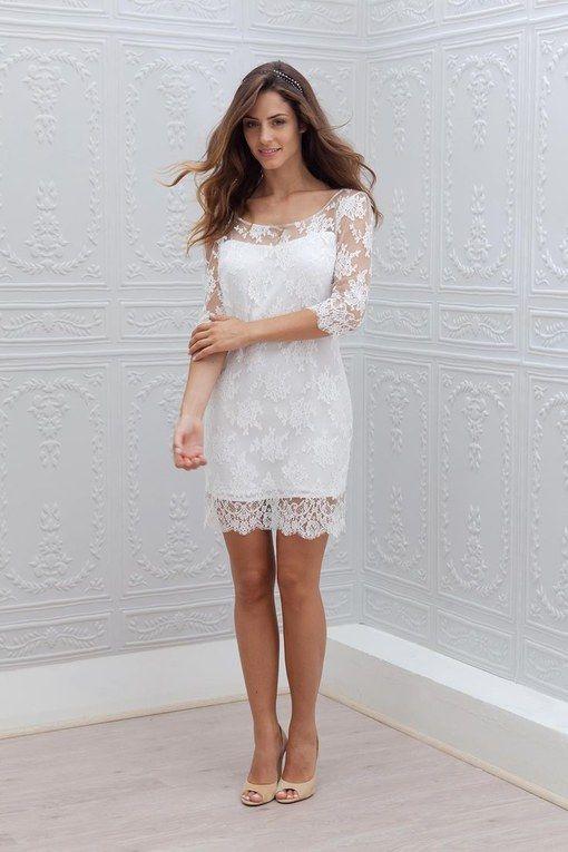 50+ vestidos para casamento no civil em 2020 | Vestido
